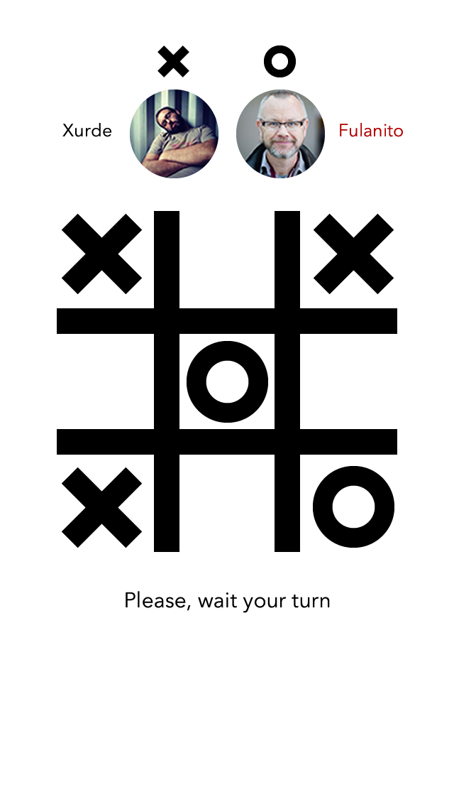 Tic-Tac-Toe App - Gameboard - Game playing