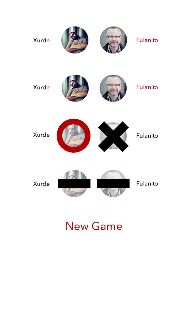 Tic-Tac-Toe App - Gamelist