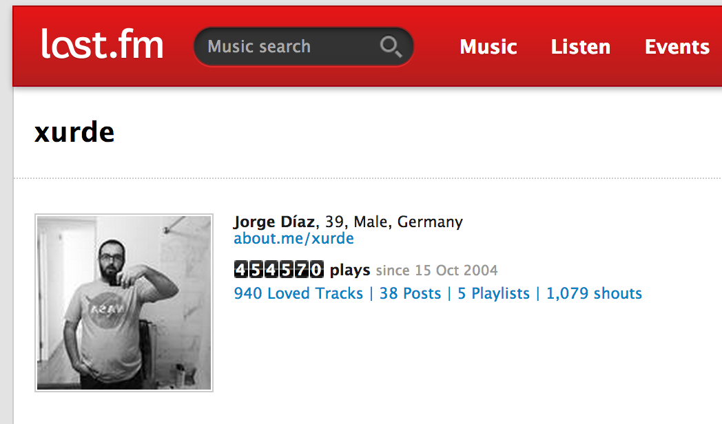 xurde's Music Profile – Users at Last fm